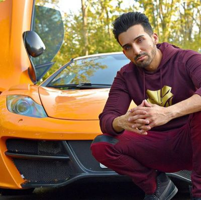 Sham Idrees with his car