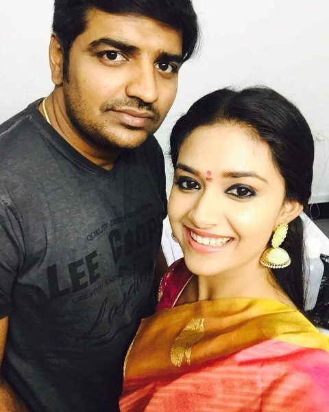 Keerthy suresh and Sathish