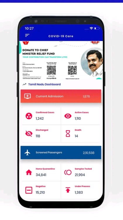 Covid 19 Care-Tamil Nadu App official