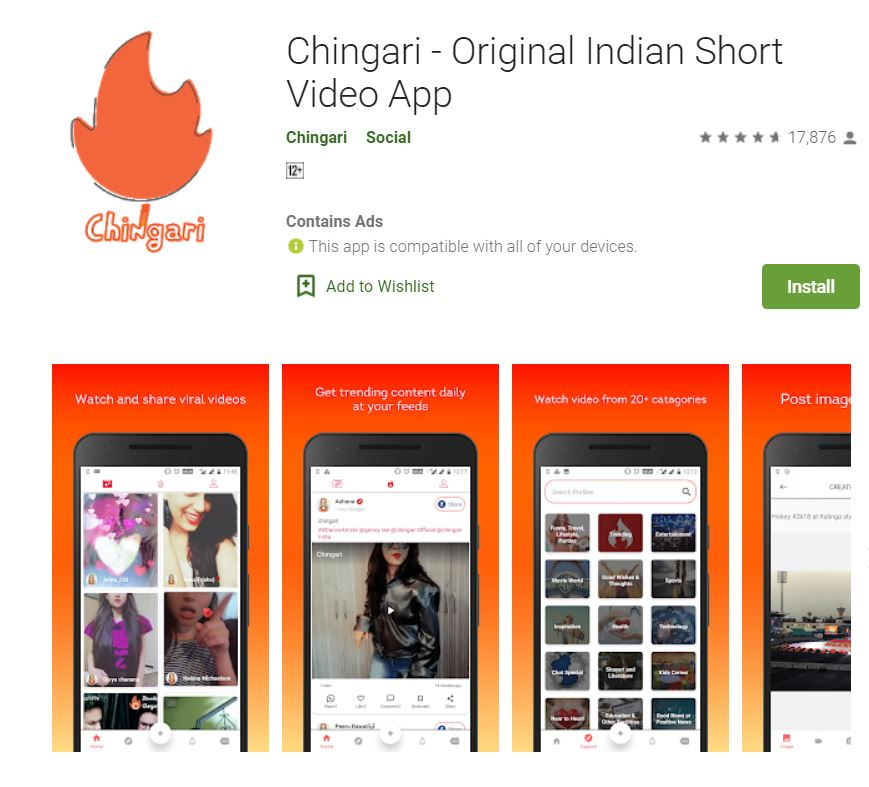 chingari app origin country